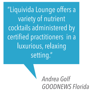 What is Liquivida Lounge vitamin infusion